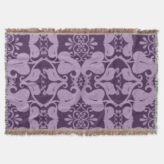 Couverture Pourpre et motif floral de lavande