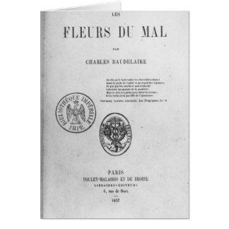Couverture, première édition de 'Les Fleurs du Carte