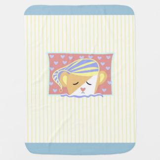 Couverture rêveuse de bébé de rayure d'ours couverture pour bébé