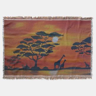 Couverture Savanna with giraffe
