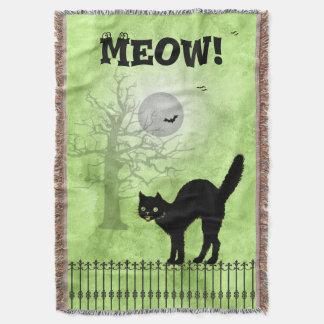 Couverture Scène d'impression de vert de chat noir de