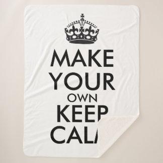 Couverture Sherpa Faites vos propres garder le calme