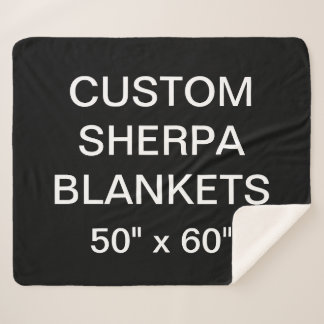 """Couverture Sherpa La coutume a personnalisé 50"""" x 60"""" le blanc"""