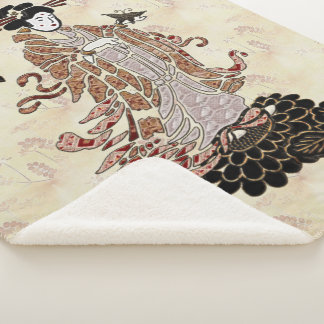 Couverture Sherpa Madame Butterfly