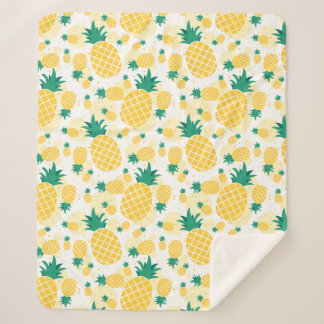Couverture Sherpa Ouatine tropicale gaie Blanke de Sherpa d'ananas