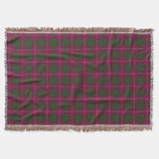 Couverture Tartan écossais de Crawford de clan
