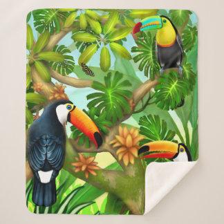 Couverture tropicale de Sherpa de jungle de toucan