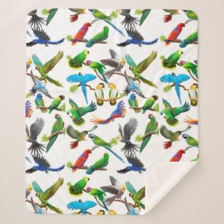 Couverture tropicale de Sherpa de perroquets