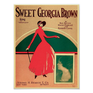 Couverture vintage la Géorgie douce Brown 1925 de Poster