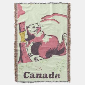 Couvertures Affiche vintage de voyage de castor du Canada