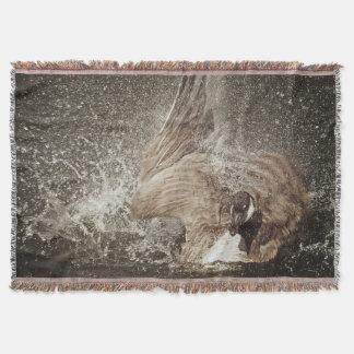 Couvertures Art photographique de claquement de l'eau d'oie du
