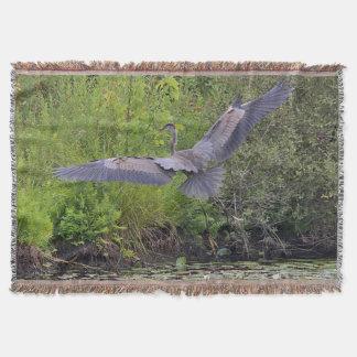 Couvertures Atterrissage de héron de grand bleu
