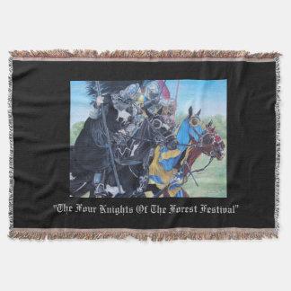 Couvertures chevaliers médiévaux joutant sur l'art historique