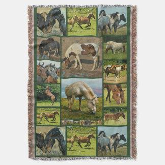 Couvertures Collage de chevaux sauvages
