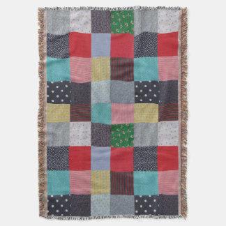 Couvertures conception vintage de tissu de patchwork de style