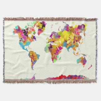 Couvertures couleurs de carte du monde