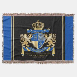 Couvertures Créez votre propre manteau d'emblème bleu de lion