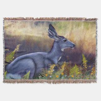 Couvertures Daine de cerfs communs de mule