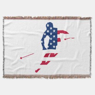 Couvertures Drapeau des Etats-Unis d'Américain de ski de