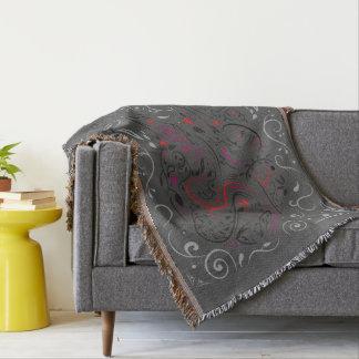 Couvertures éléphant fleuri