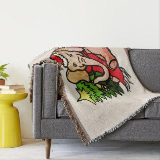 Couvertures Éléphant géant vintage de Noël avec le monogramme
