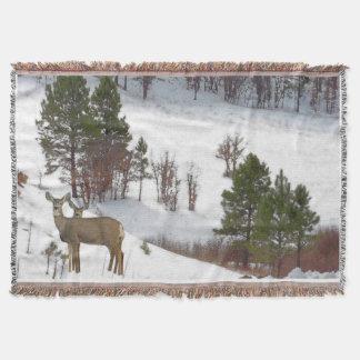 Couvertures Faons d'animaux de faune de cerf de Virginie