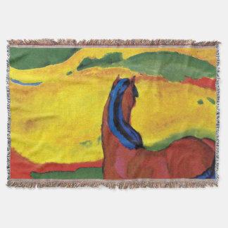 Couvertures Franz Marc - cheval dans une peinture de paysage