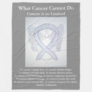 Couvertures grises d'ange de cancer du cerveau de