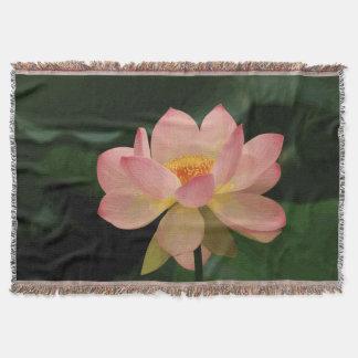 Couvertures Jardin vert luxuriant Lotus rose doux de zen