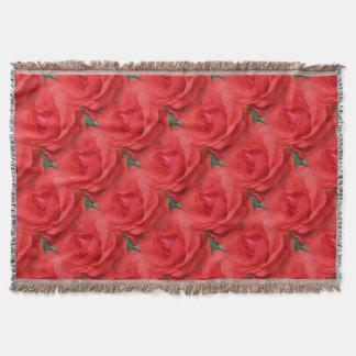 Couvertures Le rose rouge fleurit le motif d'art de nature