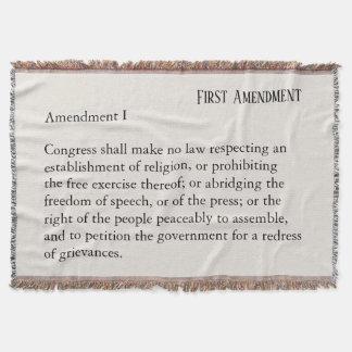 Couvertures Liberté de parole de constitution de premier