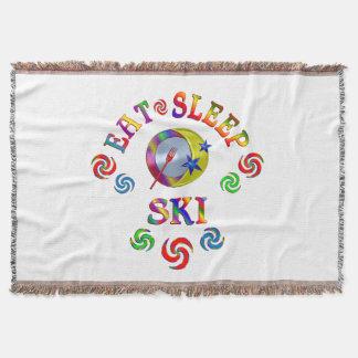 Couvertures Mangez le ski de sommeil