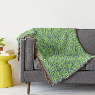Couvertures Motif abstrait géométrique de rétro vert et bleu