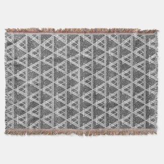Couvertures Motif géométrique de triangle noire et blanche
