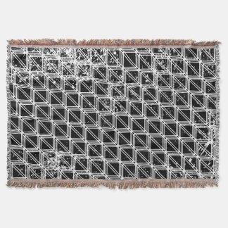 Couvertures Motif noir et blanc affligé