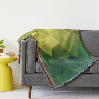 Couvertures Motif polygonal vert jaunâtre.