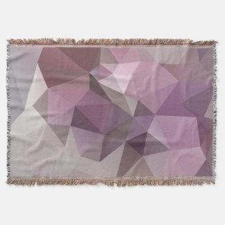 Couvertures Motif rose et pourpre gris de polygone.