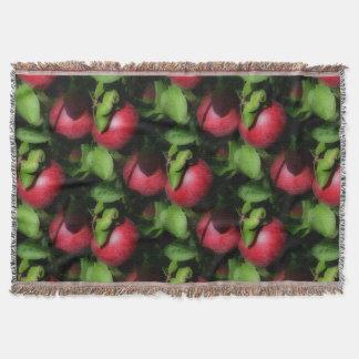 Couvertures Motif rouge d'art de nature de pommes de McIntosh