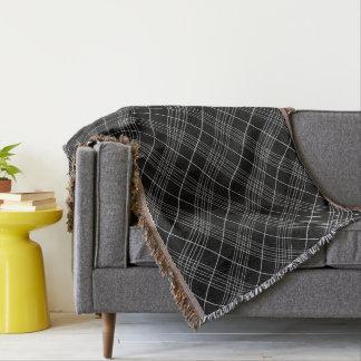 Couvertures Motif vérifié noir et blanc de plaid de tartan