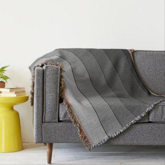 Couvertures Nuances du motif gris de rayures élégant