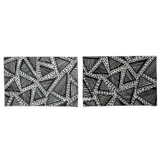 Couvertures pointillées noires et blanches de taie