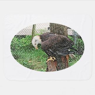 Couvertures Pour Bébé aigle regardant en bas de outre du croquis de