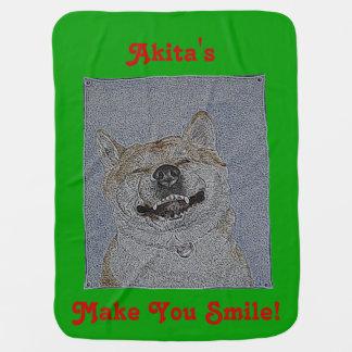 Couvertures Pour Bébé akita drôle smilling le chien original de slogan