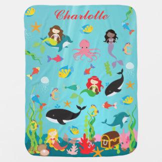 Couvertures Pour Bébé Belles sirènes et nom de coutume de vie marine