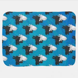 Couvertures Pour Bébé Bleu de chèvre de Billy de silhouette de main