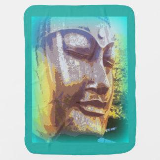 Couvertures Pour Bébé Bouddha font face au vert