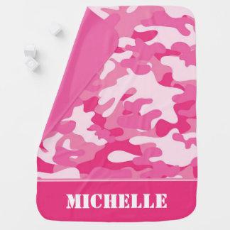 Couvertures Pour Bébé Camouflage rose   personnalisé