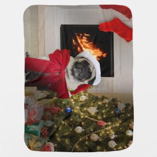Couvertures Pour Bébé Carlin Père Noël de attente de Noël