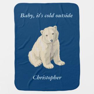 Couvertures Pour Bébé Chandail laid personnalisé de Noël d'ours blanc