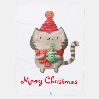 Couvertures Pour Bébé Chat mignon de Noël